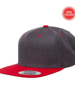 6089MT Dark Heather/Red